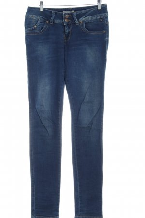 LTB Skinny Jeans dunkelblau Washed-Optik