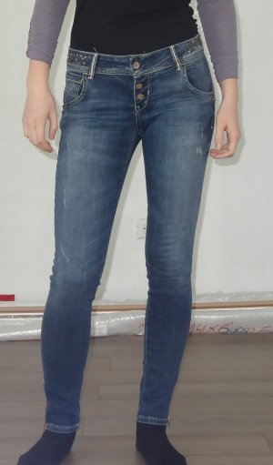 LTB skinny Jeans mit Knopfleiste low rise