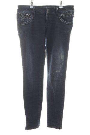 LTB Skinny Jeans neonblau Used-Optik