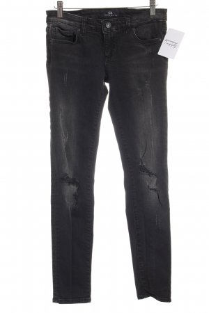 LTB Slim Jeans anthrazit-weiß Street-Fashion-Look