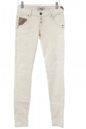 LTB Slim Jeans creme Boho-Look