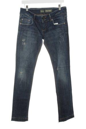 LTB Slim Jeans dunkelblau Bleached-Optik