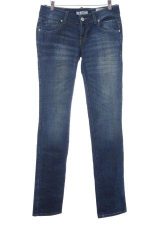 LTB Slim Jeans dunkelblau Farbverlauf Bleached-Optik