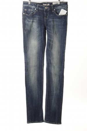 LTB Slim Jeans dunkelblau-wollweiß Used-Optik