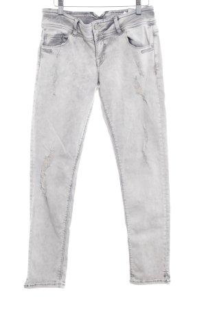 LTB Slim Jeans hellgrau-grau Washed-Optik