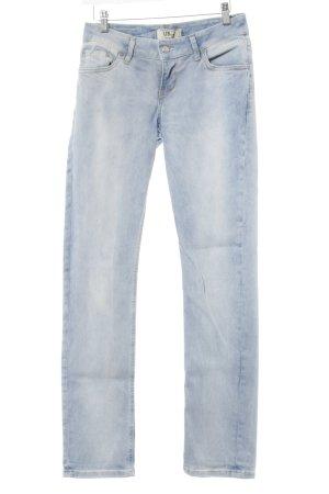 LTB Slim Jeans kornblumenblau-himmelblau Used-Optik