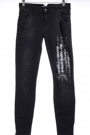 LTB Slim Jeans schwarz Farbtupfermuster Casual-Look
