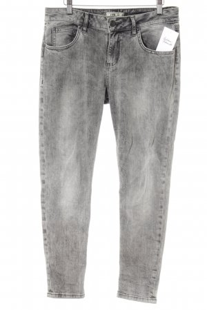 LTB Slim Jeans schwarz-weiß Washed-Optik