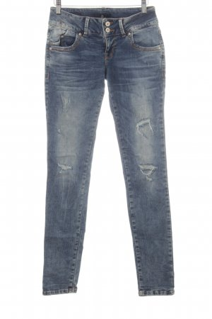 LTB Slim Jeans stahlblau Destroy-Optik