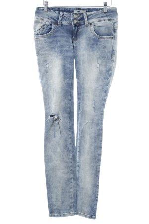 LTB Slim Jeans stahlblau Used-Optik