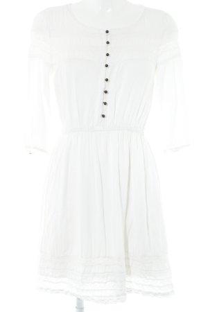 LTB Kanten jurk wit Webpatroon Beach-look