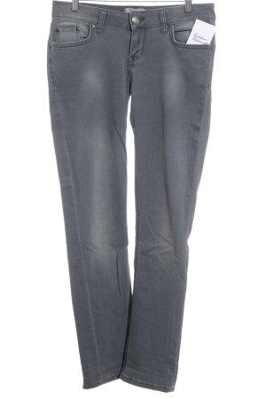 LTB Straight-Leg Jeans grau Logo-Applikation aus Leder