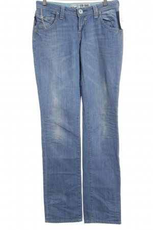 LTB Straight-Leg Jeans hellblau-wollweiß Washed-Optik