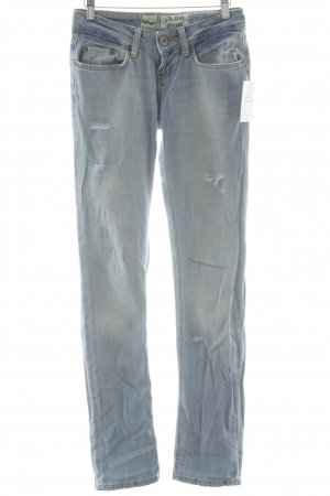 LTB Straight-Leg Jeans himmelblau-gelb Casual-Look