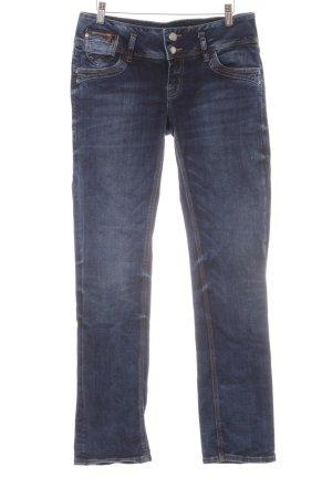 LTB Straight-Leg Jeans stahlblau-himmelblau Casual-Look