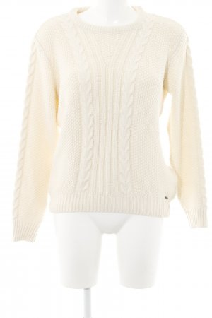 LTB Strickpullover creme Zopfmuster Casual-Look