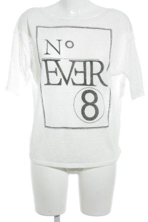 LTB T-Shirt weiß Schriftzug gedruckt sportlicher Stil