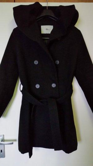 LTB Manteau à capuche noir polyester
