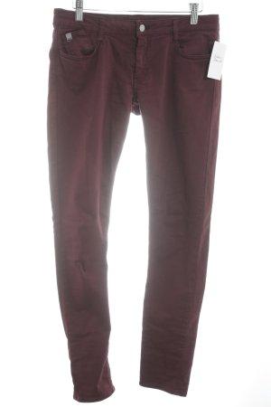 LTC Skinny Jeans bordeauxrot Casual-Look