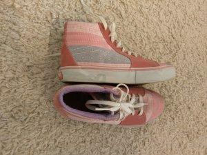 Ltd. Edition Vans Sk8 High Sneaker in Altrosa mit Muster, Größe 39,5