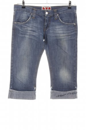 LTD fontana 3/4 Length Jeans blue wet-look
