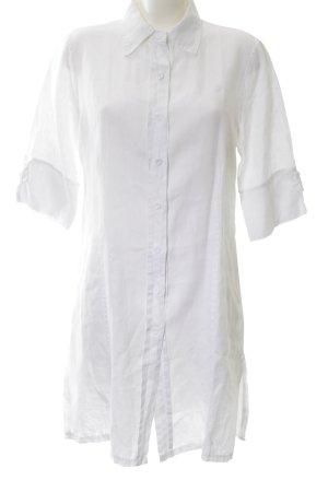 LUANA Hemdblousejurk wit zakelijke stijl