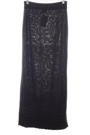 LUANA Jupe tricotée noir style décontracté