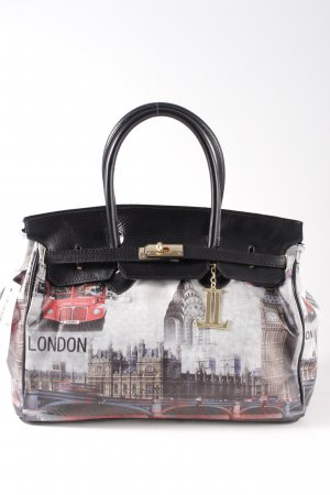 Luca Lorenzo Bowling Bag black themed print casual look