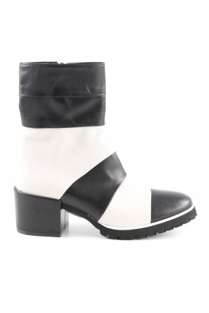 Luca Valentini Ankle Boots schwarz-weiß Casual-Look