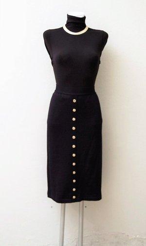 Jupe tricotée bleu foncé-noir tissu mixte