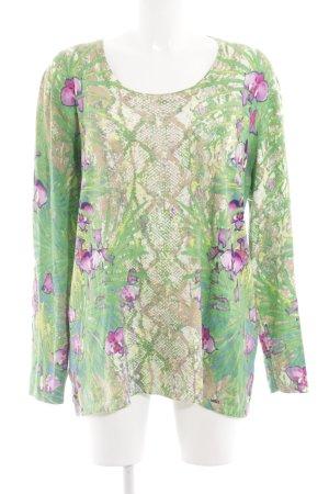 Lucia Kraagloze sweater dierenprint casual uitstraling