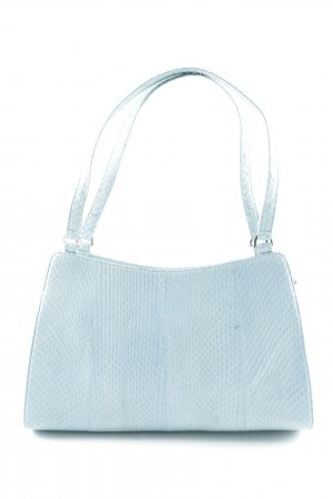 Luciano Barachini Handtasche babyblau meliert Glanz-Optik