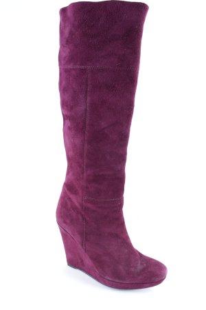 Luciano Barachini Keil-Stiefeletten purpur schlichter Stil