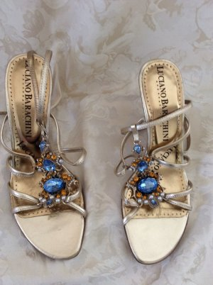 Luciano Barachini Sandals sand brown synthetic