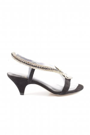 Luciano Barachini Backless Pumps black-gold-colored business style
