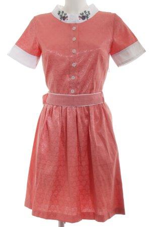 Lucid21 A-Linien Kleid rot abstraktes Muster extravaganter Stil
