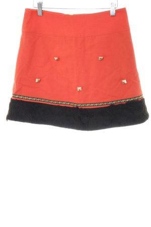 Lucid21 Minirock rot-schwarz extravaganter Stil