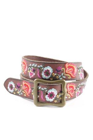 Lucky Brand Cintura di pelle motivo floreale stile casual