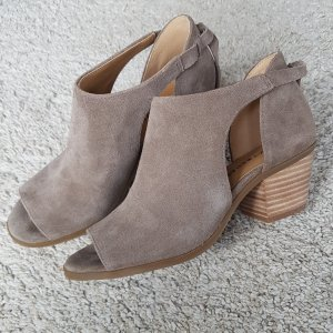Lucky Brand Opentoe-Ankleboots, taupe/beige, Wildleder, Gr.38