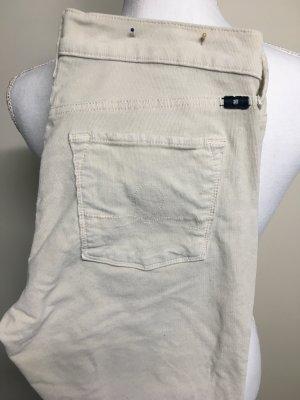 Lucky Brand Pantalone di velluto a coste bianco sporco Tessuto misto