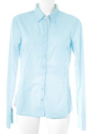 Lucky de Luca Langarmhemd hellblau schlichter Stil
