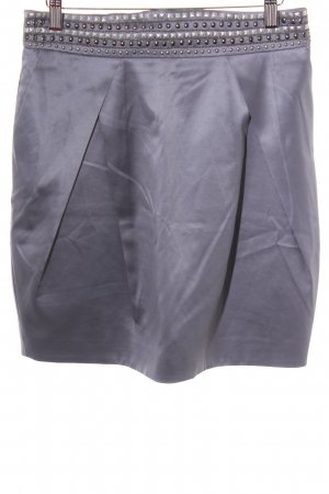Lucy Paris Balloon Skirt silver-colored business style