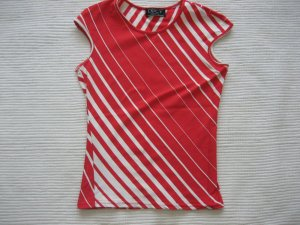 lucy top bluse weiss rot gr xs 34