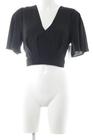 Lucy wang Cropped Shirt schwarz Elegant