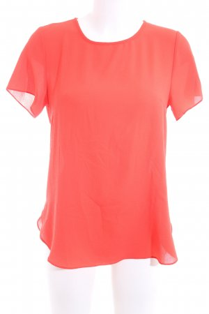 Lucy wang Kurzarm-Bluse rot Business-Look