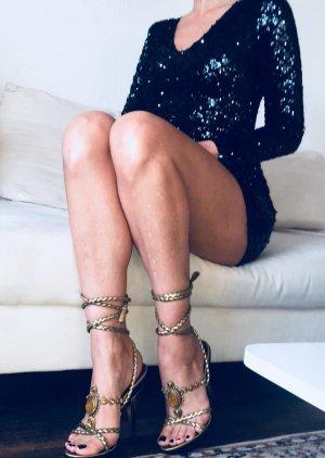 Lucy Wang Luxus Pailletten Abendkleid Coctailkleid S