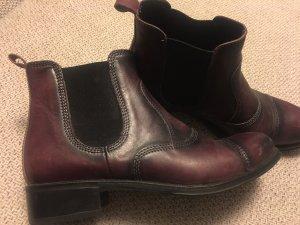Ludwig görtz Chelsea Boots rotbraun sehr edel Leder wie neu 38 Npr 229