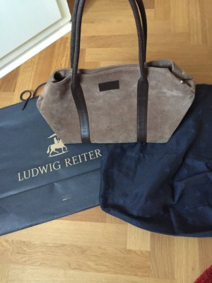 Ludwig Reiter Shopper taupe-gris brun cuir