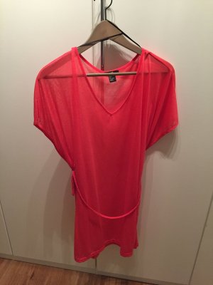 H&M Vestido playero rojo frambuesa