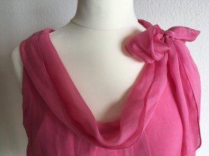 Luftig und leicht in den Sommer: Seiden-Top Shirt Bluse von FFC Gr. 36 Rosa/Pink
